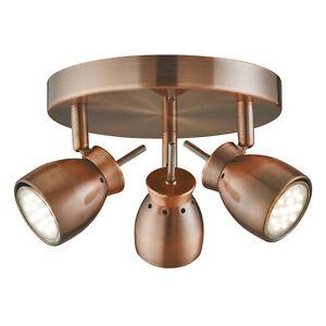 Spot Led Spot Cuivre O28cm Plafonnier Suspension Gu10 Lampe