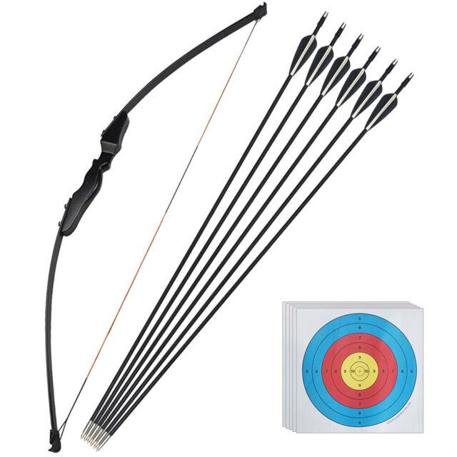 30 40LB Archery Recurve bow Longbow Set Arrow Adult Outdoor Practice Sports