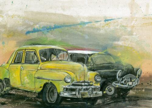 "CUBAN ART #006**ALBERTO** A MORNING IN HAVANA 18X25"" SIGNED ON CANVAS"