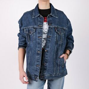 Levi-039-s-Oversize-Trucker-blau-Denim-Damen-Jacket-M