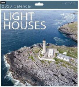 Traditional-2020-Calendar-Office-Wall-Calender-Month-View-Xmas-Gift-LIGHTHOUSES