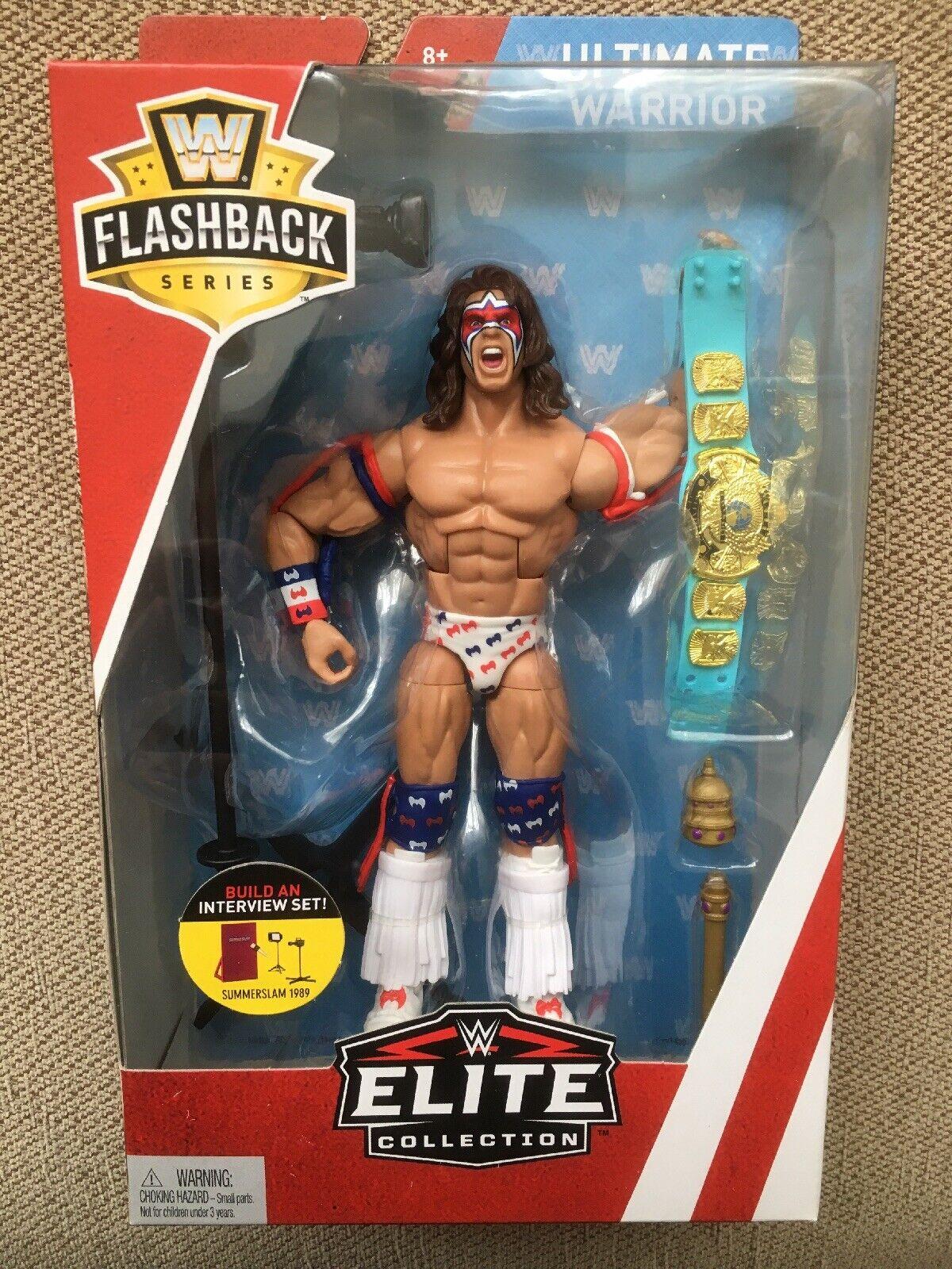 WWE NEW ULTIMATE WARRIOR MATTEL MATTEL MATTEL ELITE FLASHBACK SERIES WRESTLING FIGURE BNIB 940