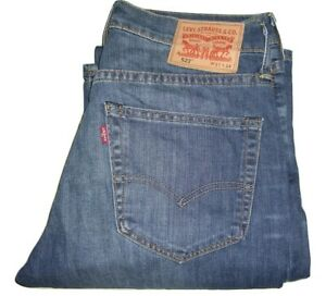 Homme-LEVI-039-S-527-Bleu-0009-Slim-Bootcut-Stretch-Denim-Jeans-W31-L34