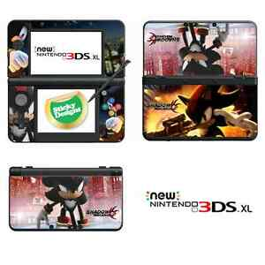 shadow the hedgehog vinyl skin sticker for new nintendo 3ds xl with