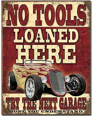 Still Plays With Cars Metal Tin Sign 12.5 in x 16 in