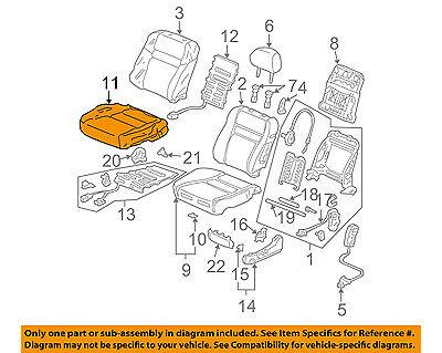 Right Front Honda Genuine 81131-TK8-A03ZA Seat Cushion Trim Cover