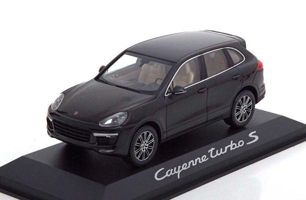 RARE PORSCHE 958 CAYENNE Turbo S (E2 II) Nero 1 43 Minichamps (modello concessionario)