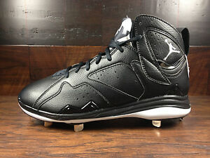 Air Jordan 7 Retro VII (Black White) OREO BASEBALL METAL Cleat ... bbcf7c3ba8