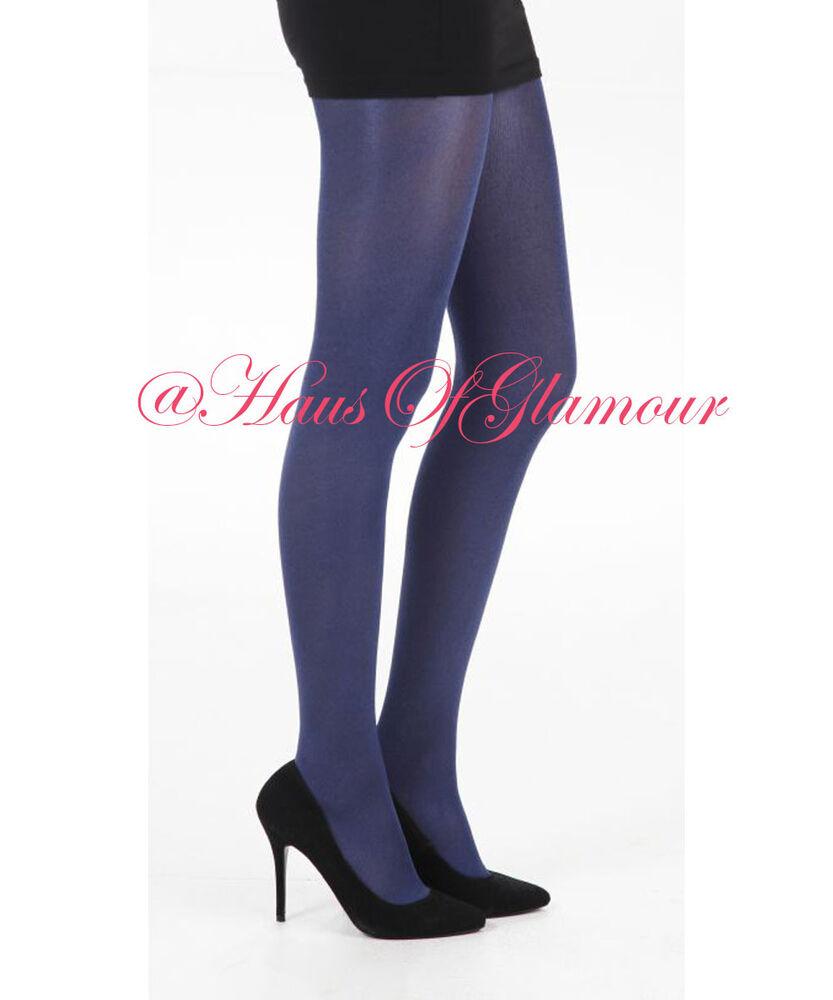 * Soldat * Ultima Total Housse élégant Luxe Opaque Brillant Bleu Collants 120 D
