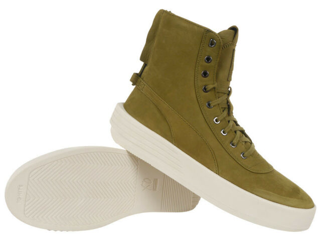 5d980315ee70 PUMA x XO Parallel x The Weeknd Collab Green Leather High Top Sneakers Shoes