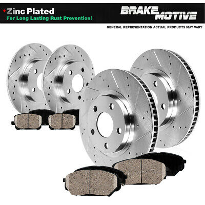 2006 2007 For Volkswagen Rabbit Coated Front Disc Brake Rotors and Ceramic Pads