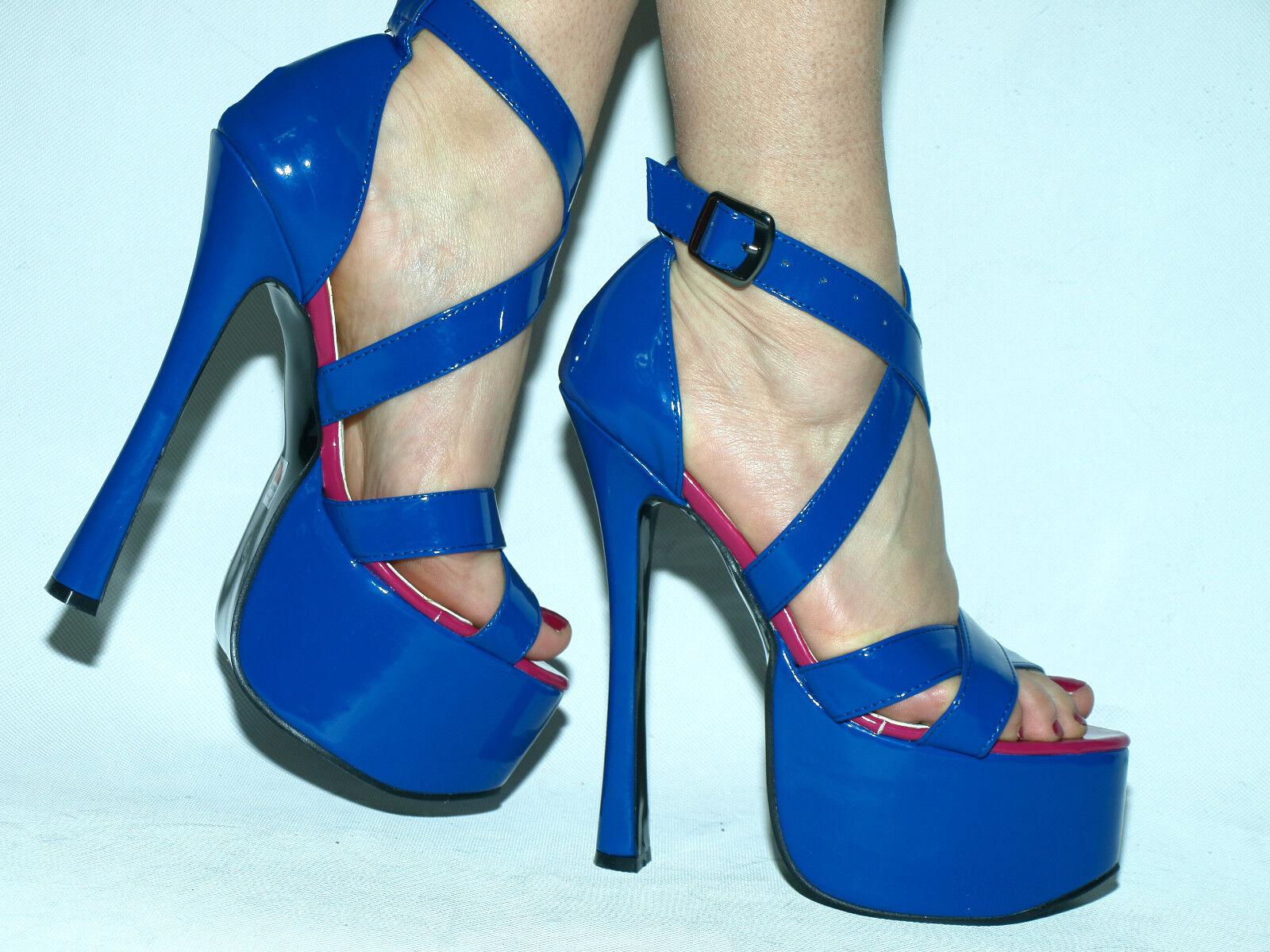 Sandaletten Lack heels 20cm 37 38 39 40 41 42 43 44 45 46 47 Bolingier Poland