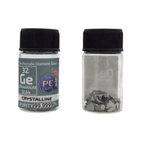 Germanium Metal Crystal Chunks 3 Grams 99.9999/% element sample in Element Bottle