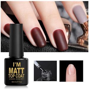 8ml-UV-amp-LED-Soak-Off-Gel-vernis-a-ongles-Manteau-mat-et-couche-de-base-Nail-Art