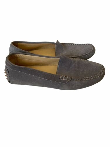 M. Gemi Gray Suede as Driving Loafers 38.5