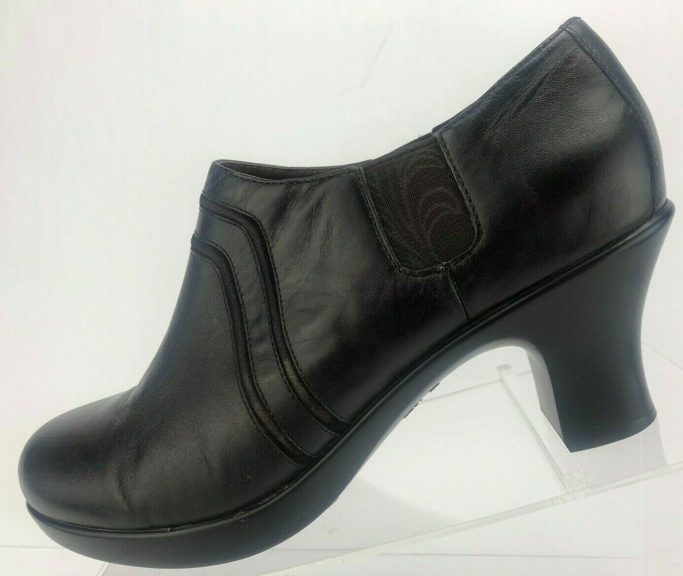 Dansko Heel Booties Banks Brown Leather Nappa Comfort Pumps Womens 39 8.5,9