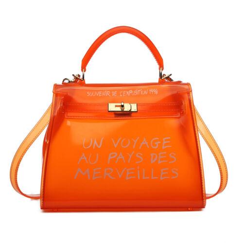 Small Size Transparent PVC Clear Semi Women Jelly Bag Messenger Bag Handbag
