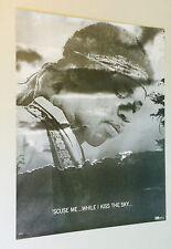 Jimi Hendrix Vintage Poster 'Scuse Me While I Kiss The Sky Frank Kay 1970's