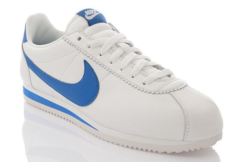 Nike cortez di cuoio bianco classico se uomini classico in scarpe da ginnastica 35