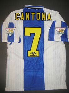 online store 8110a 9e547 Details about 1994-1996 Umbro Manchester United Eric Cantona Jersey Shirt  Kit Maglia France