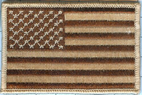 American Flag Patch - Stars Left, Desert Sand 3 1/2 X 2 1/4, Lot of 100@1.35ea