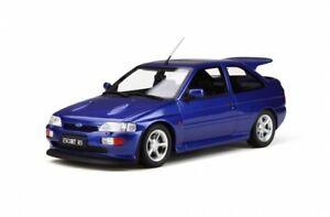 FORD-ESCORT-RS-COSWORTH-Blu-1-18-SCALA-otto-modelli-superbo-RARO-DA-COLLEZIONE-OT791