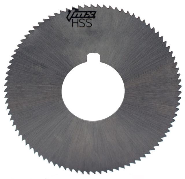 ".008/"" Thick x 2-1//4/"" Diameter x 5//8/"" Arbor Hole 60 Teeth HSS Screw Slotting Saw"