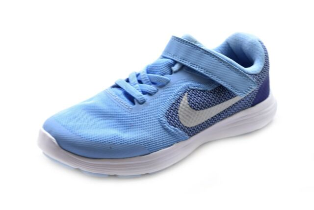 819416-404 Blue Pink White Youth Girl/'s Running Shoes NIB Nike Revolution 3 GS