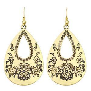 Vintage-Style-Antique-Gold-Hollow-Flower-Teardrop-Drop-Dangle-Earrings-E1085