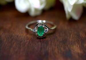 Handmade  Ring Silver Ring Christmas Gift Gift For All Emerald Ring  4.50 Carat 925 Sterling Silver