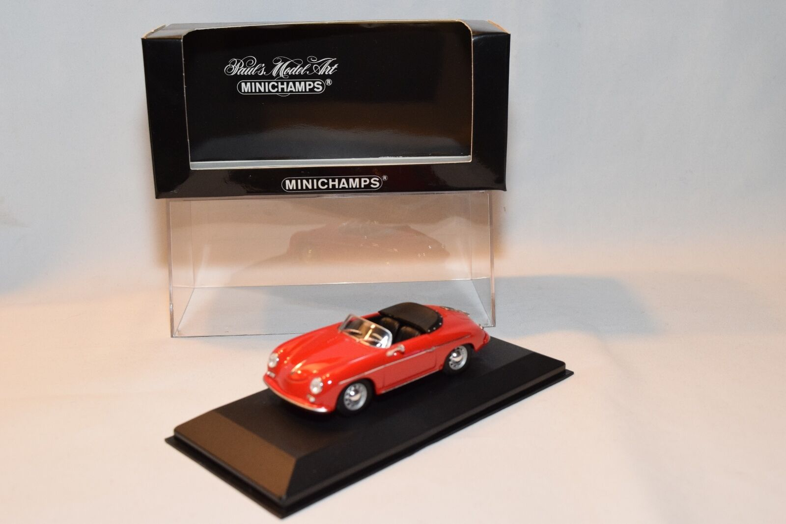 diseño único . MINICHAMPS PORSCHE 356 356 356 A SPEEDSTER SPEEDEstrella 1956 rojo MINT BOXED  precio razonable