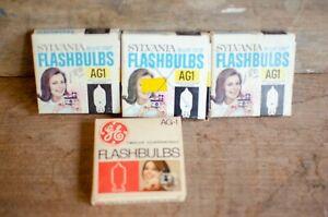 Vintage Flash Bulbs Sylvania AG1 Flashbulbs