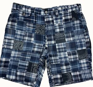Ralph-Lauren-pantaloni-corti-chino-pantaloncini-Patchwork-Classic-Fit-Blu-32-034-33-034