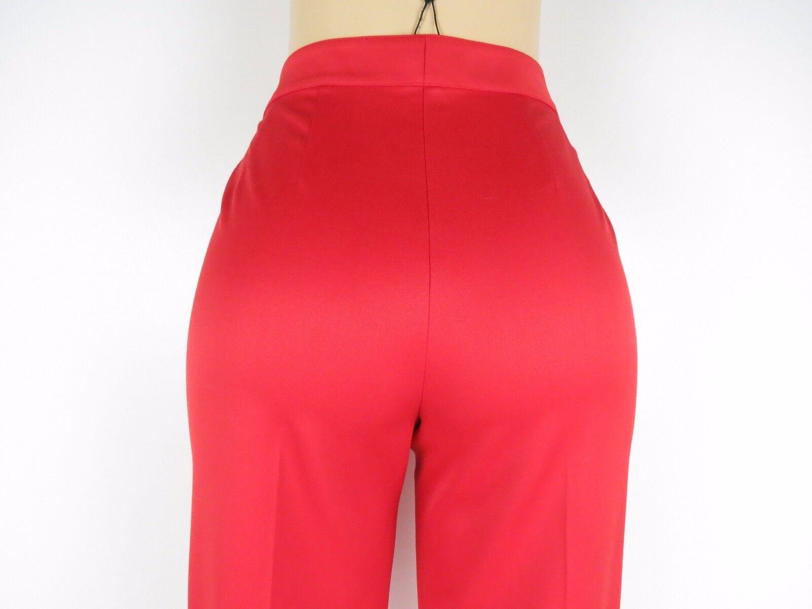 NWT St John Essentials Pants Straight Leg, Venetian Red,Size 10, Retail  595