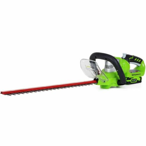 Greenworks Taille-haie avec Batterie pour Jardin 24 V Deluxe G24HT57 2200107