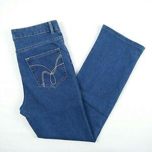 NBSJ-Noni-B-Super-Jean-High-Rise-Straight-Stretch-Denim-Jeans-Women-039-s-Size-8-W30