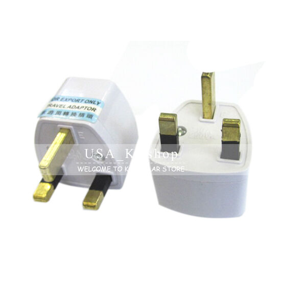 New Universal AC Wall Power Travel Plug AU/US/EU to UK Socket Converter Adapter