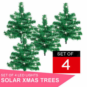 Christmas Tree SALE 4 Pack Decorative Outdoor Garden with ...