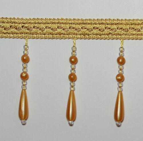 Zopf Perlen Aufgereiht Fransen Kappsäge #5 Farbe Gold