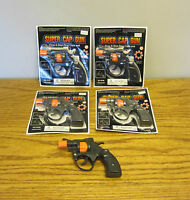 4 Super Cap Guns Toy Pistol Handgun Fires 8 Shot Ring Caps Kids Revolver