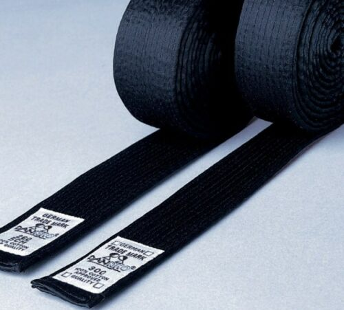 Budo Gürtel schwarz Karate Judo Ju Ju aus Kunstseide 4cm Dan Rho Taekwondo