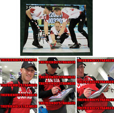"BRAD JACOBS signed ""2014 SOCHI OLYMPICS"" 8X10 Photo PROOF (F) Gold Medal Curling"