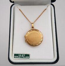 Large Round 14K Gold Filled Locket in Original Box