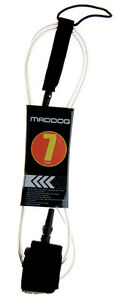 MADDOG-Surf-Board-Leg-Rope-Clear-Legrope-7-039-MADDOG-Short-Board-Leash