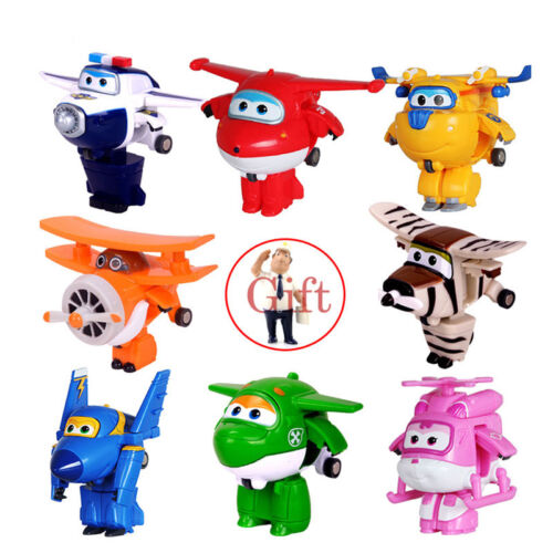 Super Wings Mini Airplane Abs Robot Toys Action Figures Wing Children Gift 8pcs