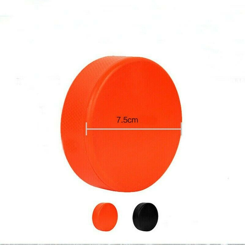 1 X Ice Hockey Pucks Rubber Orange Black Hockey Games Training Supplies YM0
