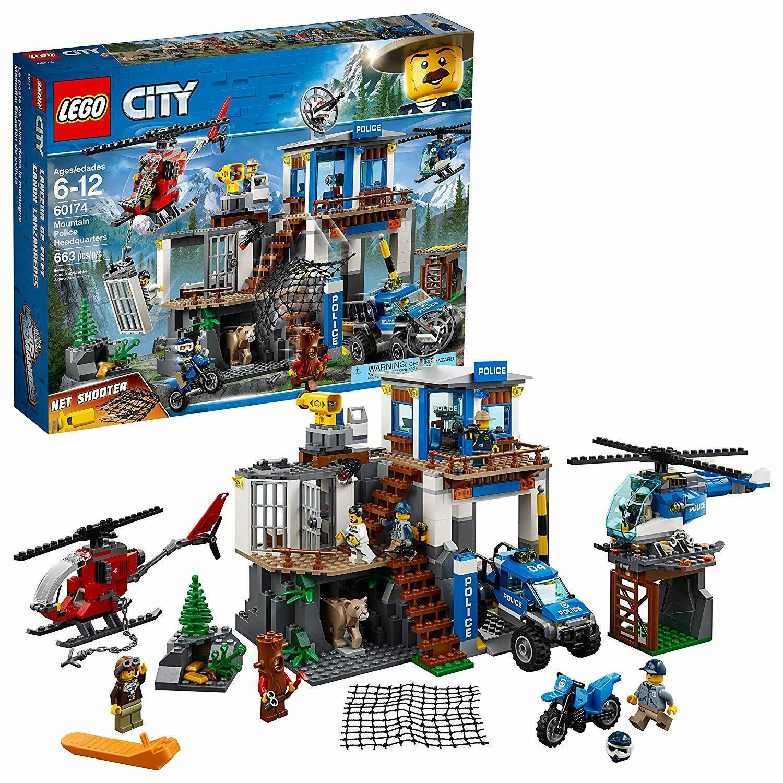 Lego City Mountain  police Headquarters 60174  NEUF  sports chauds