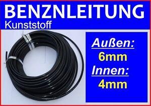 Benzinleitung-Kraftstoffleitung-Treibstoffleitung-KUNSTSTOFF-6mm-AD-4mm-ID