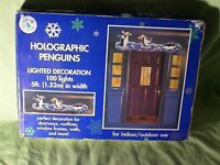 Trim A Home Holographic Penguins Lighted Decoration 5ft Wide Indoor Outdoor
