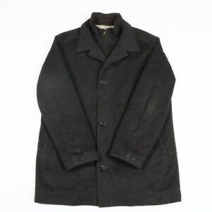 VGC-HUGO-BOSS-Virgin-Wool-and-Cashmere-Overcoat-Men-039-s-L-Duffle-Mac-Trench